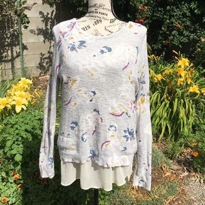 Lucky Brand Floral Layered Sweater